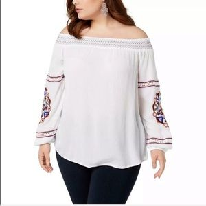 {COMING SOON}INC Women's Off the Shoulder Blouse